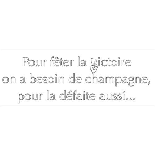 Sticker autocollant citation texte champagne pour deco murale d'intérieur de maison