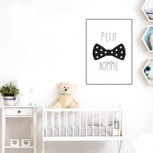 """Autocollant pour chambre d'enfant affiche """"petit bonhomme"""" decoration mural"""