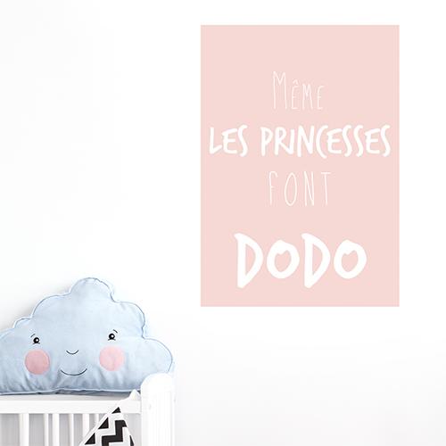Adhésif affiche princesse dodo pour décoration de chambre d'enfant