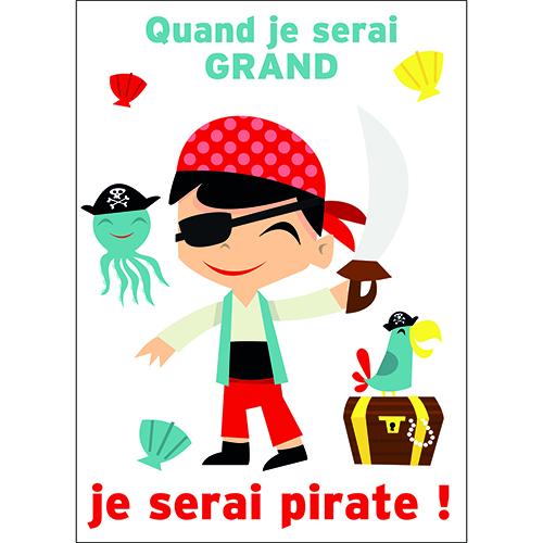 Sticker autocollant mural pirate pour decoration de chambre d'enfant