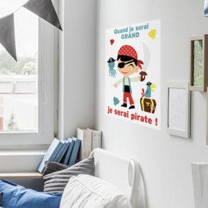 Sticker mural Pirates dans une chambre d'enfant bien décorée