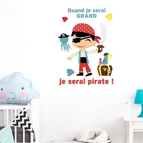 Sticker autocollant Pirates posé dans une chambre de bébé
