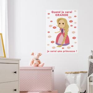 Sticker mural Princesse dans une chambre de fille
