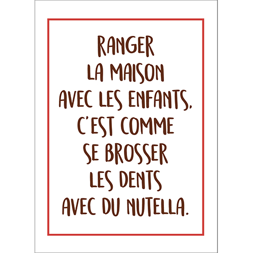 Sticker autocollant citation nutella pour decoration murale de chambre d'enfant