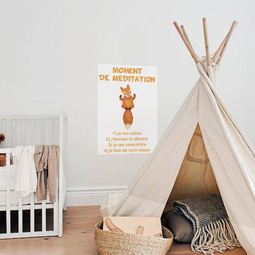Sticker mural Renard posé dans une chambre de bébé bien décorée