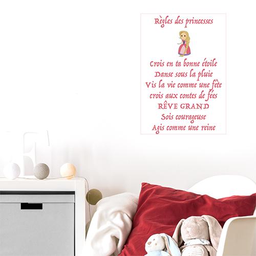 Autocollant décoration rose foncé pour chambre d'enfant