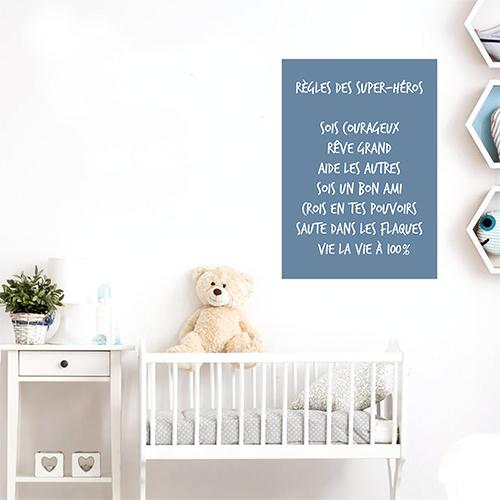 Autocollant affiche murale pour decoration chambre d'enfant