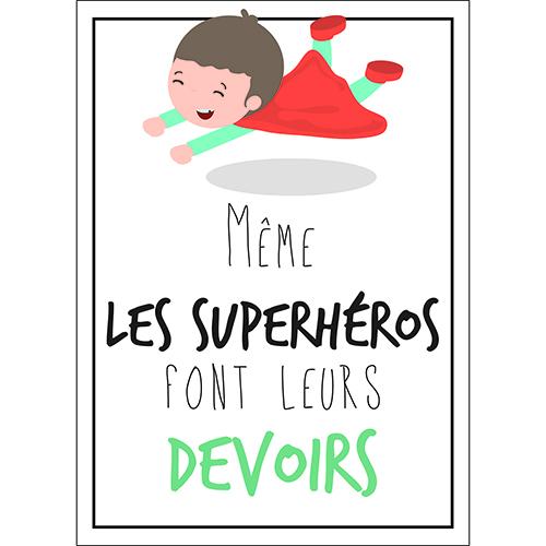 Sticker superhéros autocollant citation pour déco chambre d'enfant