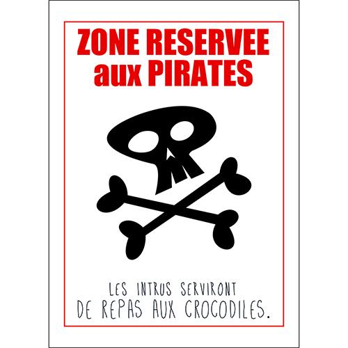 Sticker adhésif citation pirates pour deco mural de chambre d'enfant