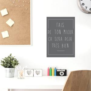 """Adhésif citation affiche """"fais de ton mieux"""" pour décoration de bureau"""