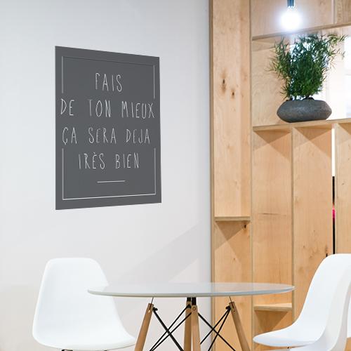 Autocollant décoration de salle à manger citation