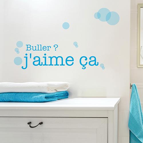 Sticker mural Buller j'aime ça décoration dans une salle de bain