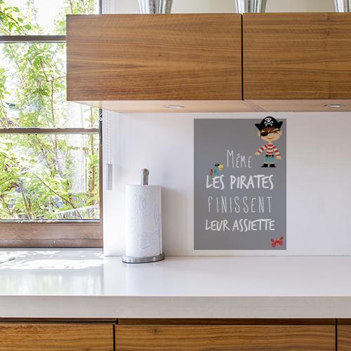 Sticker Pirates décoration au dessus d'un plan de travail