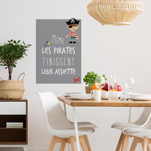 Sticker mural Pirates au dessus d'une table de salle à manger
