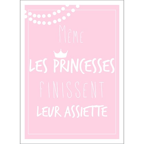 Sticker autocollant princesse rose pâle pour décoration de cuisine et de salle à manger