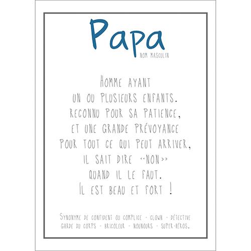 Sticker autocollant mural décoratif blanc citation pour papa pour intérieur de maison