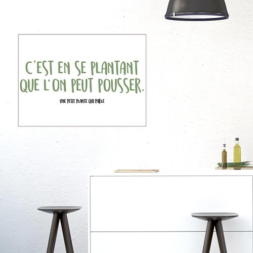 Adhésif citation sur les plantes décoration de salle à manger