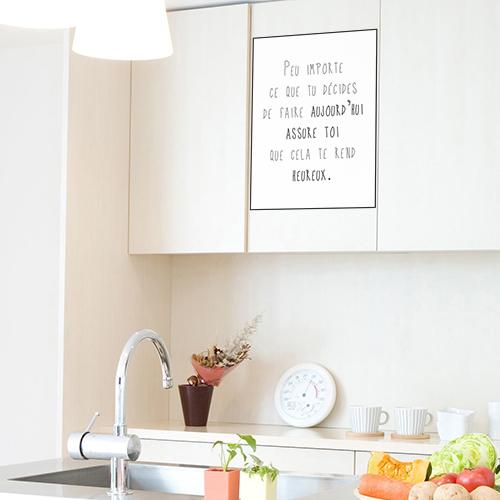 Sticker autocollant Peu importe dans une cuisine au dessus d'un évier