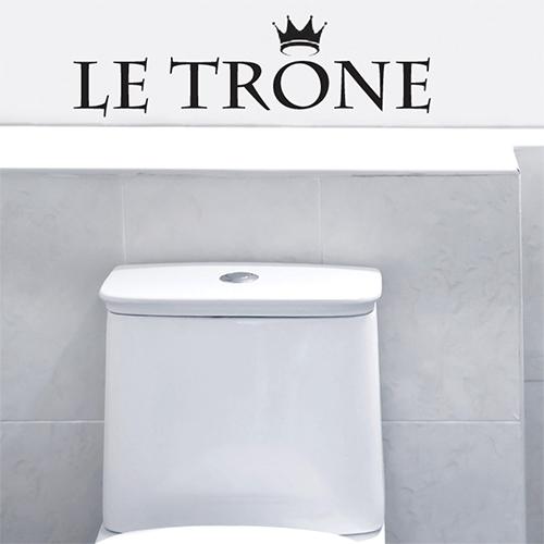 Adhésif pour déco de toilette