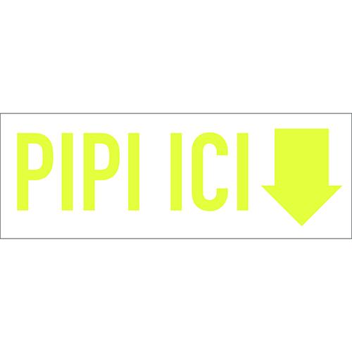 Sticker autocollant pour enfants sur le pipi citation adhésif deco pour salle de bain