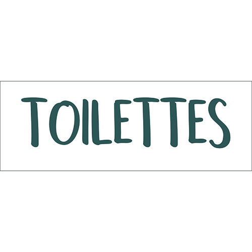 Sticker autocollant toilettes pour enfant citation decoration murale pour salle de bain