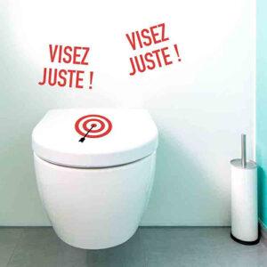 Adhésif décoration cible de fléchette pour toilette humour pour petits et grands