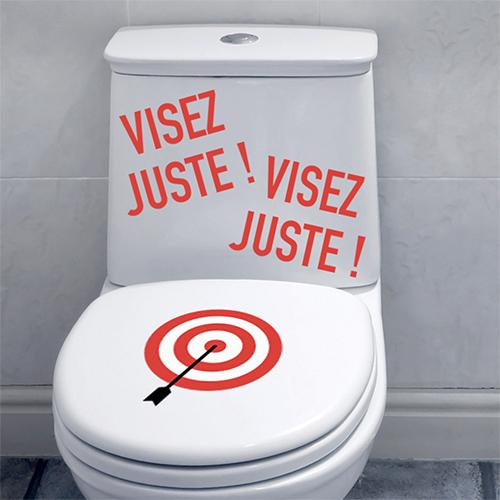 Autocollant rouge mural humour pour petits et grands idéal pour la décoration des toilettes