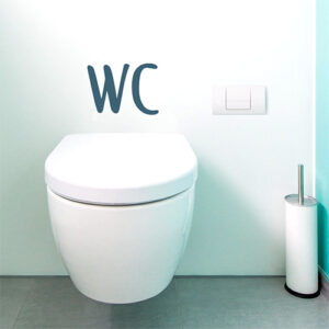 Autocollant décoration citation WC pour décoration de toilette ou salle de bain