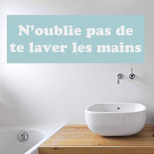 Sticker salle de bain texte pour murs \