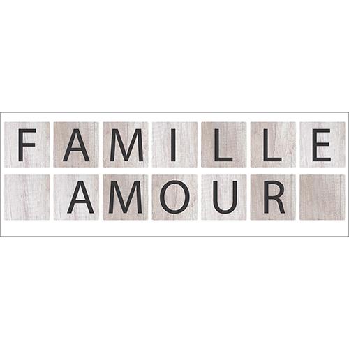 Sticker autocollant pour décoration murale citation sur la famille et l'amour