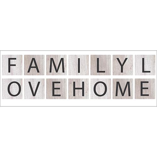 Sticker autocollant citation adhésif family love home pour décoration d'intérieur