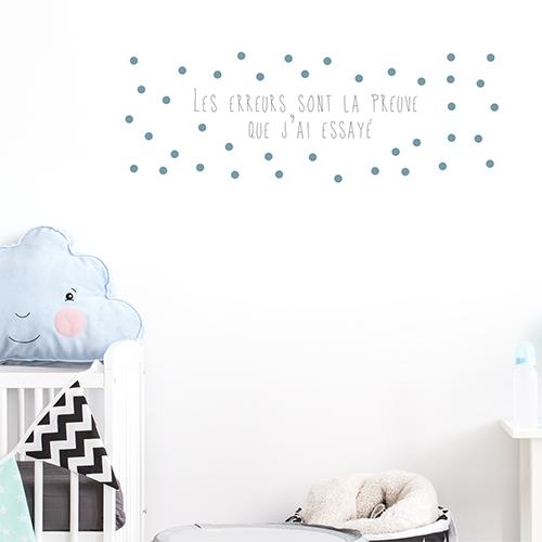 Autocollant sur la vie et les erreurs citation pour décorer la chambre d'enfant