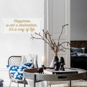"""Autocollant pour décoration coin lecture texte d'amour citation """"home made with love"""""""
