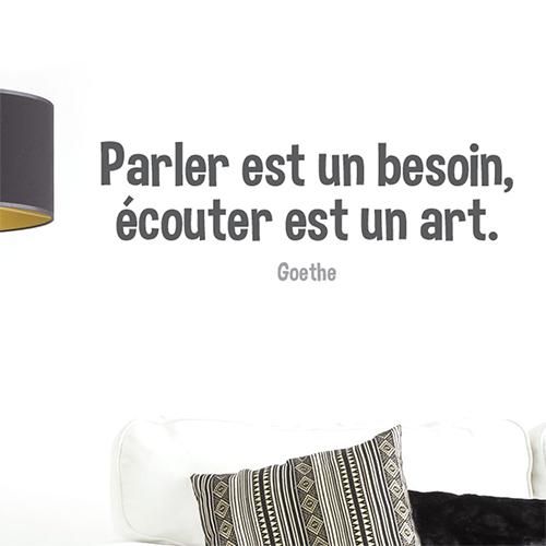 Sticker Parler est un besoin décoration murale dans un salon