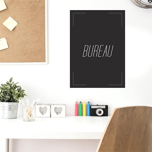 Sticker citation Bureau au dessus d'un bureau