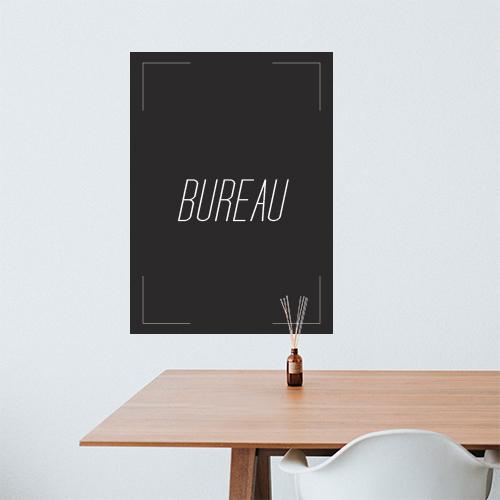 Sticker citation murale Bureau au dessus d'une table dans un salon