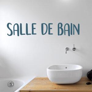 Sticker Salle de bain déco murale au dessus d'un lavabo