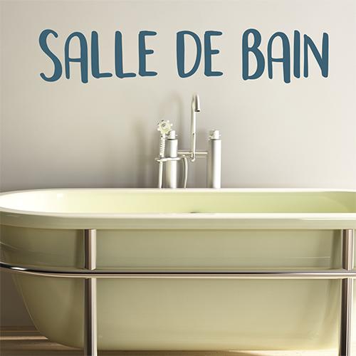 Sticker adhésif citation Salle de bain au dessus d'une baignoire