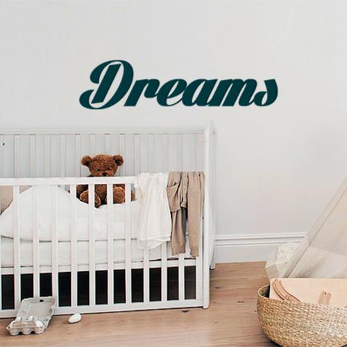 Sticker déco Dreams dans une chambre de bébé