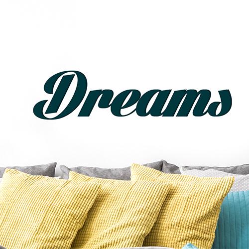Sticker adhésif Dreams au dessus d'un canapé dans un salon