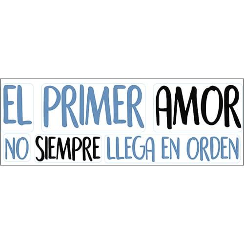 Décoration murale pour salon citation El Primer Amor