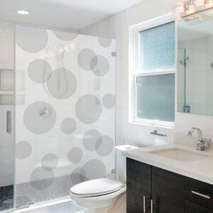 Sticker Bulles de savon décoration pour paroi de douche dans une salle de bain