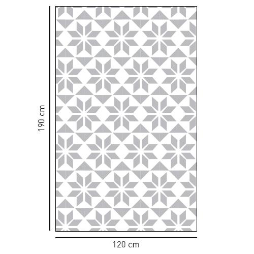 Sticker décoratif adhésif style Hexagonal pour vitre de douche