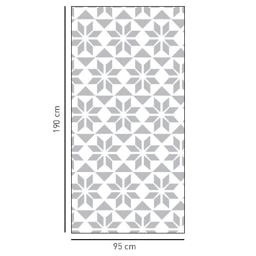Sticker style Hexagonal grande taille pour vitres de douches