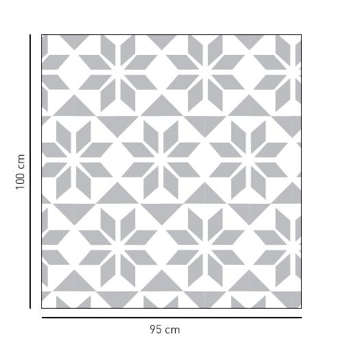 Sticker autocollant de forme carré style Hexagonal pour porte de douches