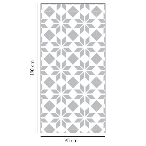 sticker style moderne format rectangulaire pour vitre de douche