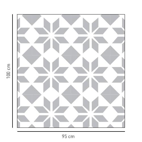 sticker forme carré et style moderne pour vitre de douche