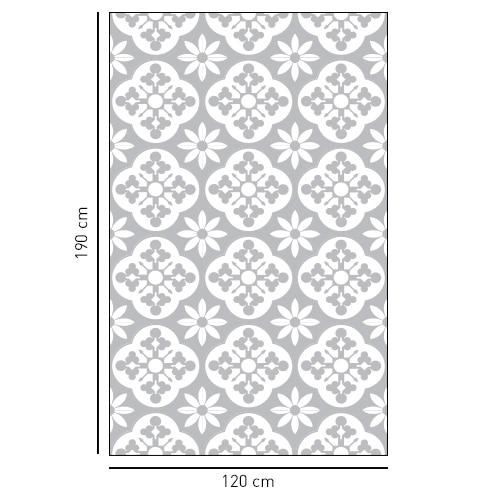 Sticker décoratif adhésif style fleuri pour vitre de douche