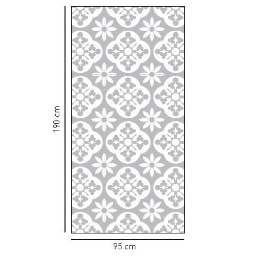sticker décoratif formt rectangulaire style Fleuri pour porte de douche