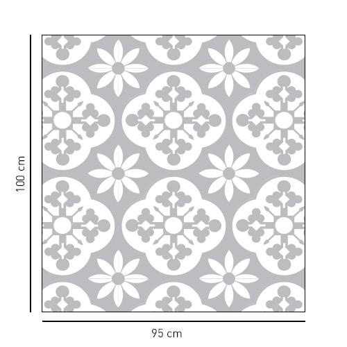 sticker carré et style fleuri pour portes de douches